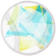 Morning Polygon Pattern Round Beach Towel