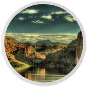 Morning Reflections II Round Beach Towel