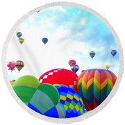 Morning Skies Round Beach Towel