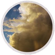 Morning Sky After The Storm Round Beach Towel