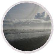 Morning Solitude Round Beach Towel