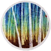 Morning Song I Round Beach Towel