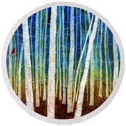Morning Song II Round Beach Towel
