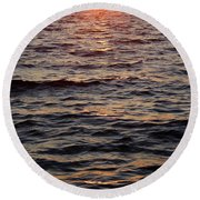 Morning Sun On The Water Round Beach Towel
