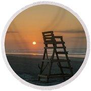 Morning Sun - Wildwood Crest Round Beach Towel