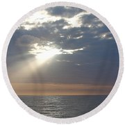 Morning Sunburst Round Beach Towel