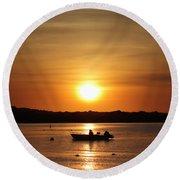 Morning Sunrise 09-02-18 # 11 Round Beach Towel
