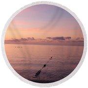 Morning Sunrise 09-02-18 # 3 Round Beach Towel