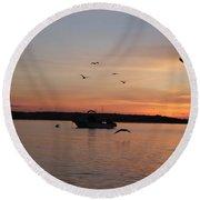 Morning Sunrise 09-02-18 #6 Round Beach Towel