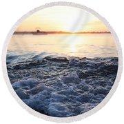 Morning Sunrise 09-02-18 #8 Round Beach Towel