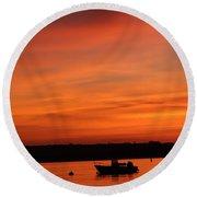 Morning Sunrise 09-02-18 Round Beach Towel