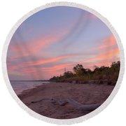 Morning Sunrise 2 Round Beach Towel