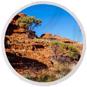 Morning To The Kings Canyon Rim - Northern Territory, Australia Round Beach Towel