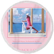 Morning Watch Poster Round Beach Towel