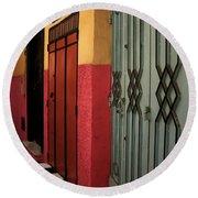 Moroccan Doors Ll Round Beach Towel