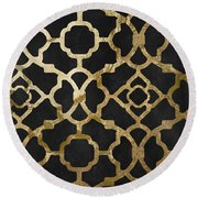 Moroccan Gold IIi Round Beach Towel