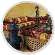 Moroccan Room Round Beach Towel