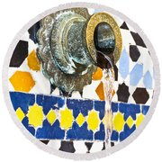 Moroccan Tap Round Beach Towel by Tom Gowanlock