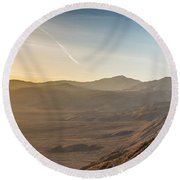 Morongo Valley From On High Round Beach Towel