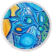 Morphism And Energy Round Beach Towel