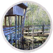 Morris Bridge Round Beach Towel