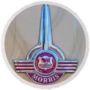 Morris Hood Emblem Round Beach Towel