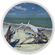 Morris Island Driftwood Round Beach Towel