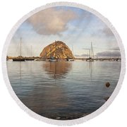 Morro Rocks Round Beach Towel