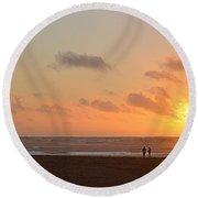Morro Sunset Round Beach Towel