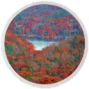 Morrow Mountain Overlook Round Beach Towel