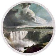 Morse: Niagara Falls, 1835 Round Beach Towel