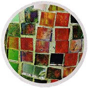 Mosaic 17 Round Beach Towel