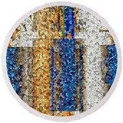 Mosaic Magic Round Beach Towel
