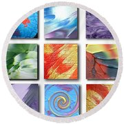 Mosaic Of Abstracts Round Beach Towel