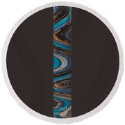 Mosaic Tower Round Beach Towel
