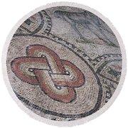 mosaics in Ravenna II Round Beach Towel