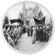 Moscow: Red Army, C1920 Round Beach Towel