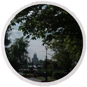 Moscow Shadows Round Beach Towel