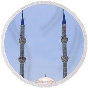Mosque Round Beach Towel