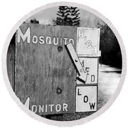 Mosquito Monitor Round Beach Towel