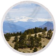 Mosquito Range Mountains From Bald Mountain Colorado Round Beach Towel