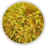 Moss Abstract Round Beach Towel