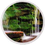 Moss Falls - 2981-2 Round Beach Towel