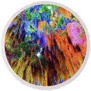 moss of Color Round Beach Towel