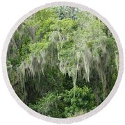 Mossy Branches Round Beach Towel