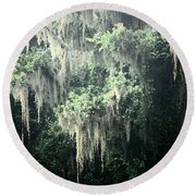 Mossy Dream Round Beach Towel