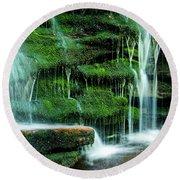 Mossy Falls - 2981 Round Beach Towel