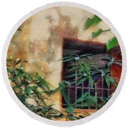 Mossy Wall Round Beach Towel