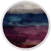 Most Of All- Abstract Art By Linda Woods Round Beach Towel