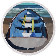 Mostly Sunny Round Beach Towel